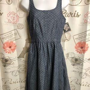 Gap Denim Dress With Polka Dots